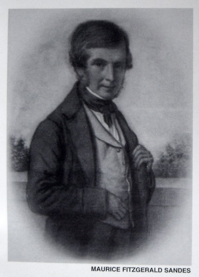 """Maurice Fitzgerald Sandes - image taken from a scan of the book """"A History of Collis Sandes House"""" by Bernadette Walsh"""