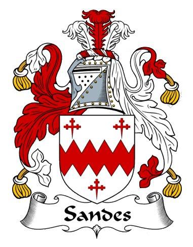 The Sandes family crest