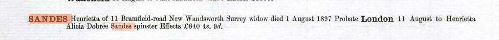 British Will entry for Henrietta Fitton