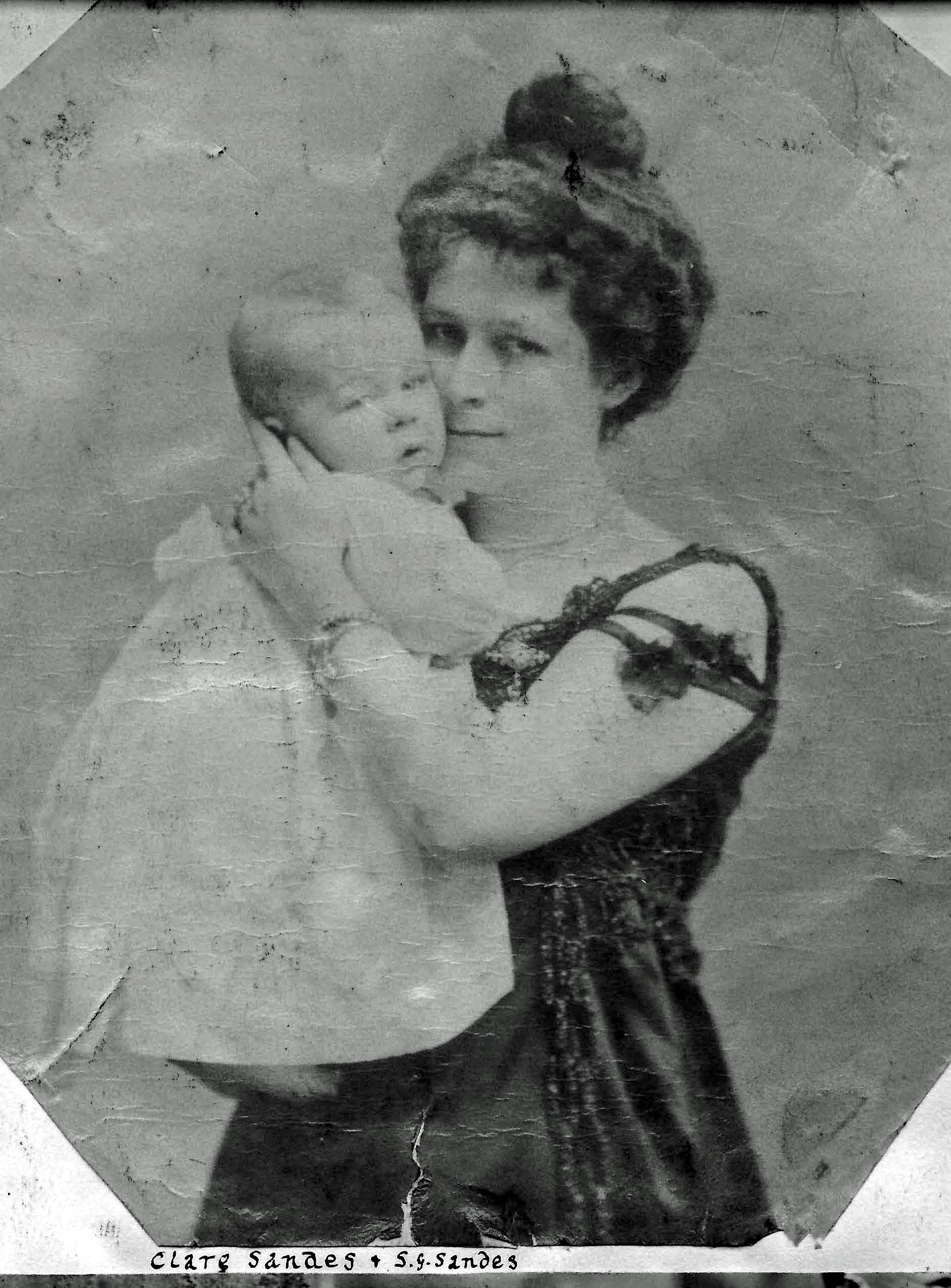 Clare Berry with her son Stephen Sandes