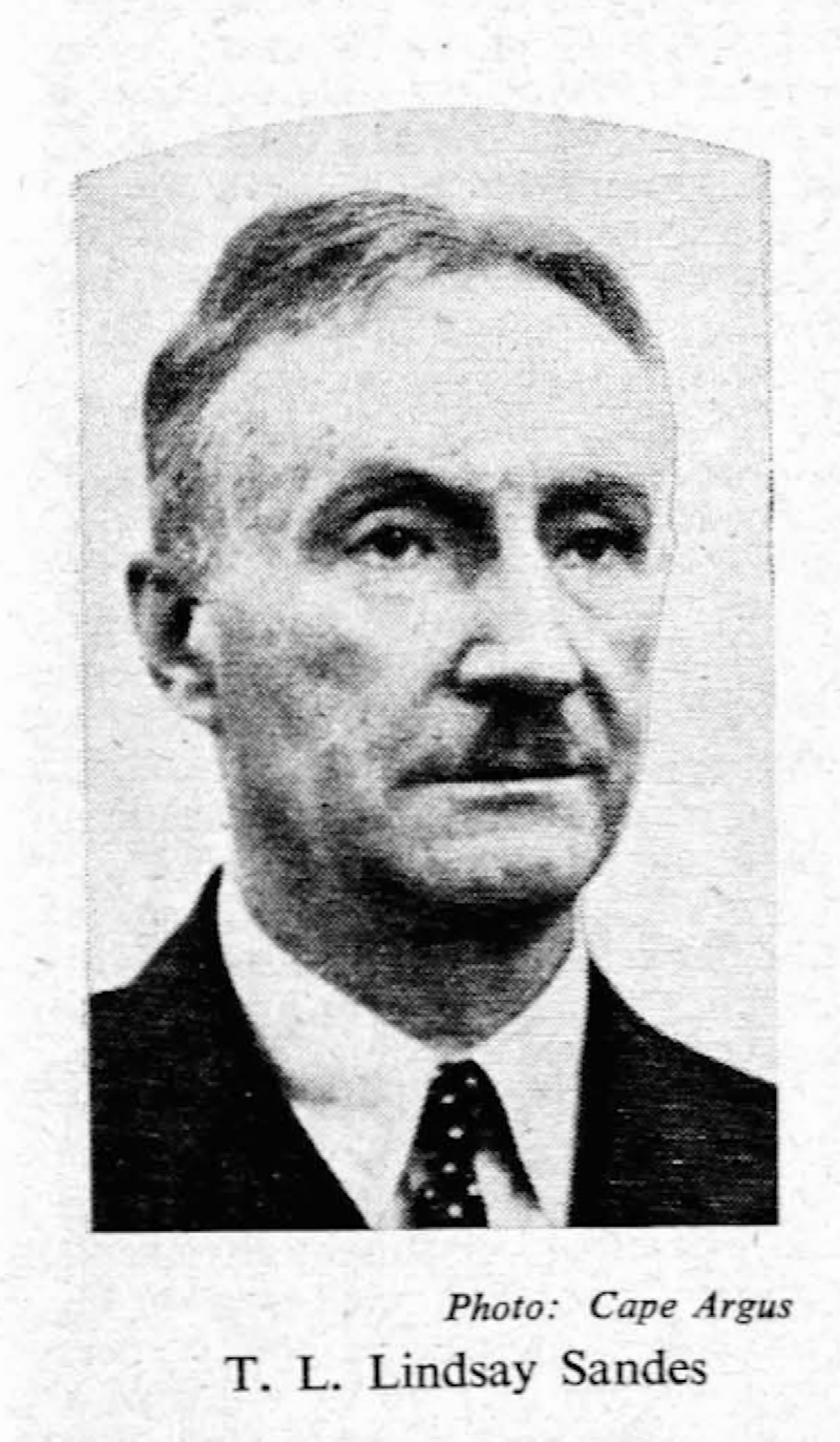 Dr. Thomas Lewis Lindsay Sandes O.B.E., M.A., M.D. (Dubl.), F.R.C.S., F.R.C.S.I.