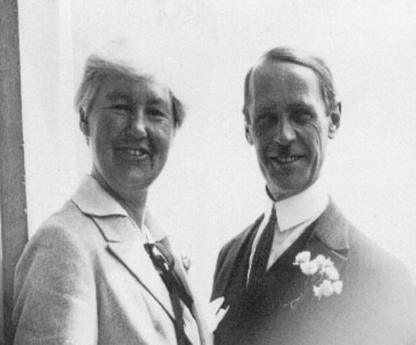 Flora Sandes and Yuri Yudenitch after their wedding.