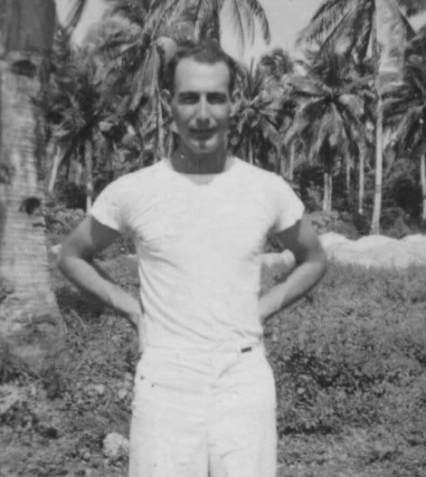Maurice Sandes where he was stationed in Guam, South Pacific during World War Two.